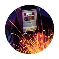 Image of welder with sparks